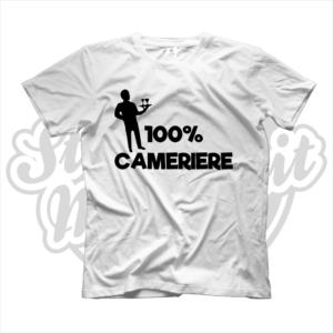 maglietta t-shirt maglia tshirt idea regalo lavoro 100% cameriere