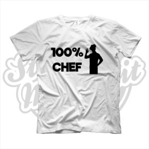 maglietta t-shirt maglia tshirt idea regalo lavoro 100% chef