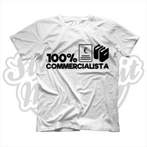 maglietta t-shirt maglia tshirt idea regalo lavoro 100% commercialista