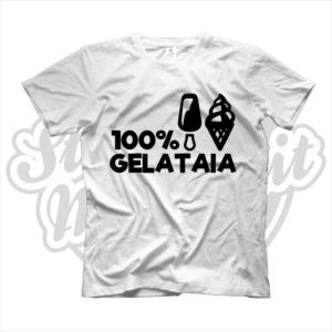 maglietta t-shirt maglia tshirt idea regalo lavoro 100% gelataia