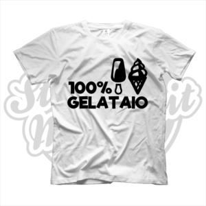 maglietta t-shirt maglia tshirt idea regalo lavoro 100% gelataio