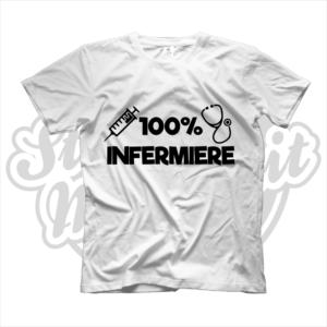 maglietta t-shirt maglia tshirt idea regalo lavoro 100% infermiere