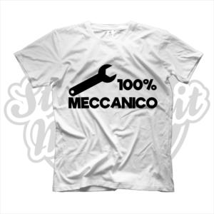 maglietta t-shirt maglia tshirt idea regalo lavoro 100% meccanico