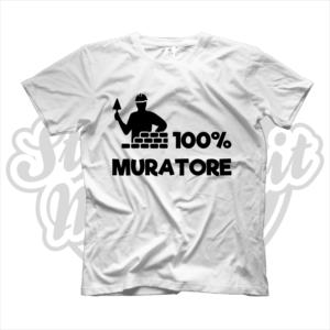 maglietta t-shirt maglia tshirt idea regalo lavoro 100% muratore
