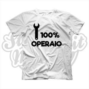 maglietta t-shirt maglia tshirt idea regalo lavoro 100% operaio