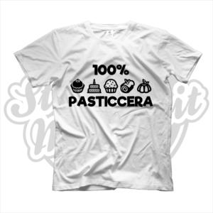 maglietta t-shirt maglia tshirt idea regalo lavoro 100% pasticcera