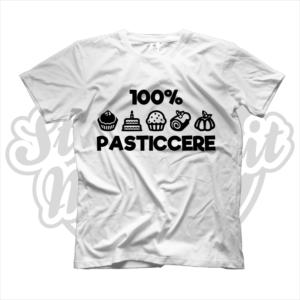 maglietta t-shirt maglia tshirt idea regalo lavoro 100% pasticcere