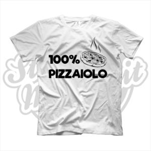 maglietta t-shirt maglia tshirt idea regalo lavoro 100% pizzaiolo