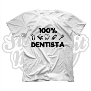 maglietta t-shirt maglia tshirt lavoro 100% dentista