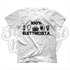 maglietta t-shirt maglia tshirt lavoro 100% elettricista