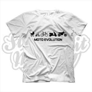 maglietta t-shirt moto evolution amanti moto motociclisti
