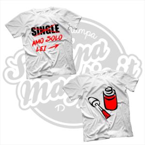 maglietta t-shirt single amo solo lei smalto ragazza gelosa