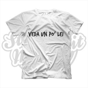 maglietta t-shirt veda un po' lei
