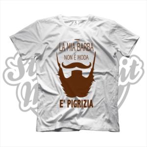 maglietta tshirt maglia la mia barba non è moda è pigrizia barba baffi beard moustache marrone