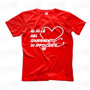 maglietta tshirt t-shirt covid-19 al di la del giuramento di ippocrate coronavirus maglietta simpatica pandemia covid19