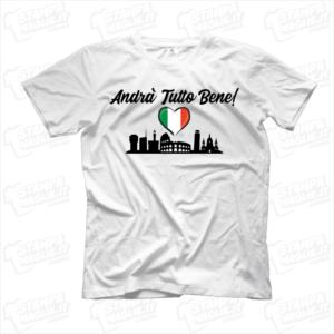 maglietta tshirt t-shirt covid-19 andrà tutto bene italia roma pisa milano genova brescia codogno prospettiva coronavirus maglietta simpatica pandemia covid19 italia