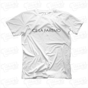 maglietta tshirt t-shirt covid-19 ce la faremo thin italia roma pisa milano genova brescia codogno prospettiva coronavirus maglietta simpatica pandemia covid19 italia