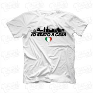 maglietta tshirt t-shirt covid-19 io resto a casa arcobaleno prospettiva coronavirus maglietta simpatica pandemia covid19 italia