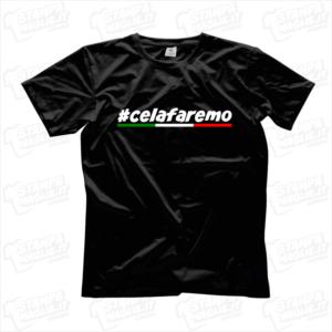 maglietta tshirt t-shirt covid-19 super celafaremo coronavirus maglietta simpatica pandemia covid19 italia