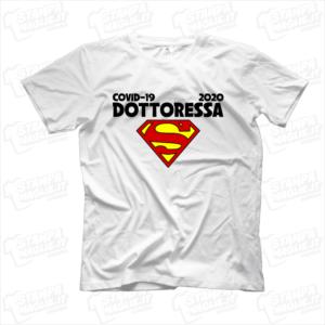 maglietta tshirt t-shirt covid-19 super dottoressa coronavirus maglietta simpatica pandemia covid19 italia