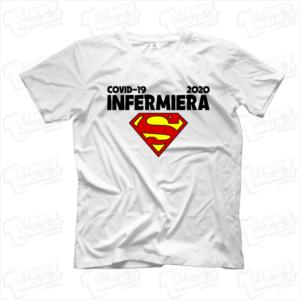 maglietta tshirt t-shirt covid-19 super infermiera coronavirus maglietta simpatica pandemia covid19 italia