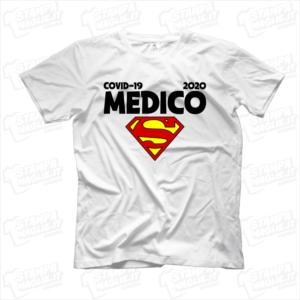 maglietta tshirt t-shirt covid-19 super medico coronavirus maglietta simpatica pandemia covid19 italia