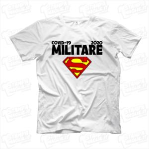 maglietta tshirt t-shirt covid-19 super militare esercito coronavirus maglietta simpatica pandemia covid19 italia