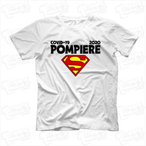 maglietta tshirt t-shirt covid-19 super pompiere coronavirus maglietta simpatica pandemia covid19 italia