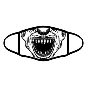 mascherina bordo nero clown horror bianco e nero personalizzata covid19 lavabile divertente simpatica