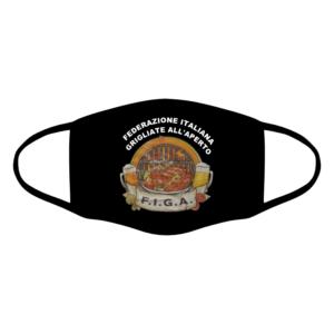 mascherina bordo nero figa federazione italiana grigliate all'aperto personalizzata covid19 lavabile divertente simpatica