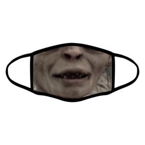 mascherina bordo nero gollum signore degli anelli personalizzata covid19 lavabile