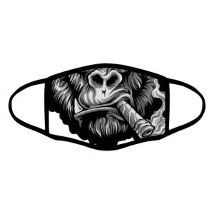 mascherina bordo nero gorilla sigaro personalizzata covid19 lavabile