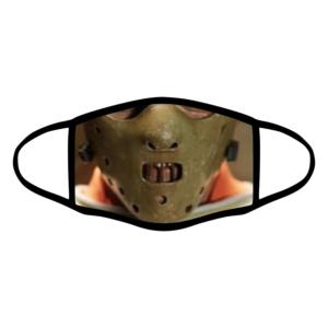 mascherina bordo nero hannibal lecter personalizzata covid19 lavabile