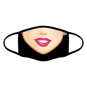 mascherina bordo nero principessa personalizzata covid19 lavabile
