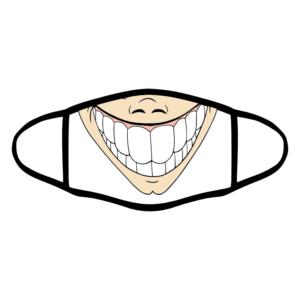 mascherina bordo nero sorriso cinese personalizzata covid19 lavabile divertente simpatica