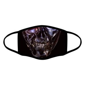 mascherina bordo nero terminator personalizzata covid19 lavabile