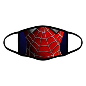 mascherina bordo nero uomo ragno spiderman clark kent personalizzata covid19 lavabile
