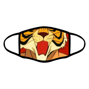 mascherina bordo nero uomo tigre tigerman personalizzata covid19 lavabile