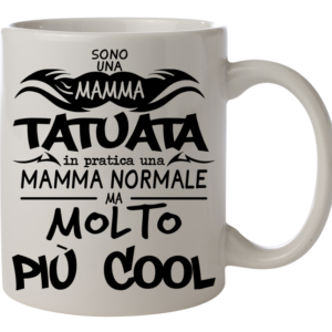 tazza mamma tatuata tattoo mom tatuaggi amante