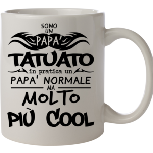 tazza papà tatuato tattoo dad father amante